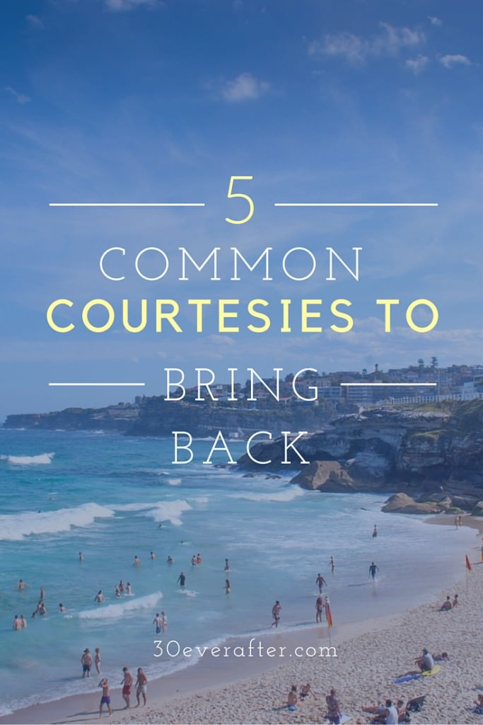 5 common courtesies pinterest