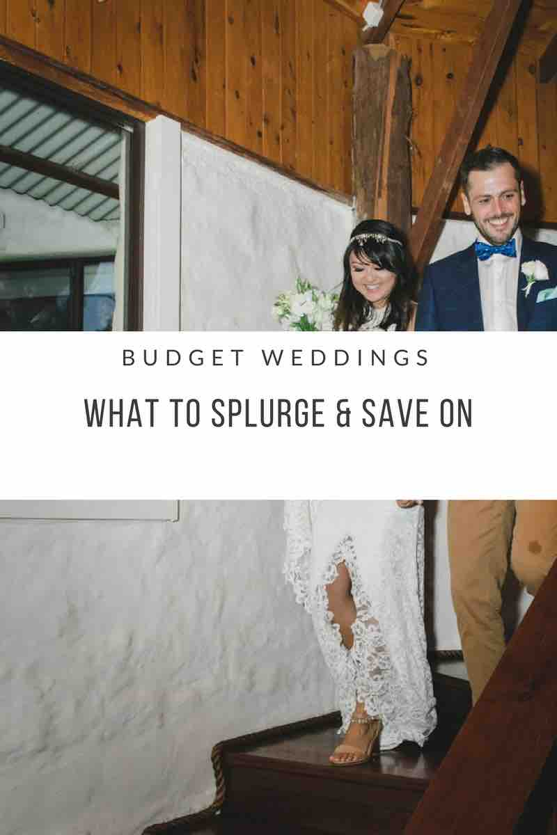 Budget Weddings Splurge and save